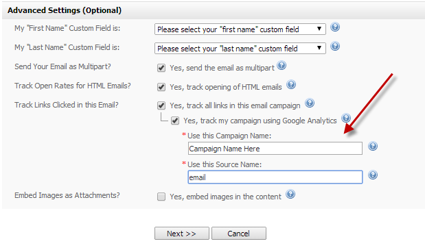 IEM Google Analytics Integration