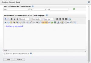 Creating the block
